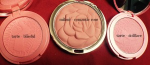 Tarte and Milani Blushes