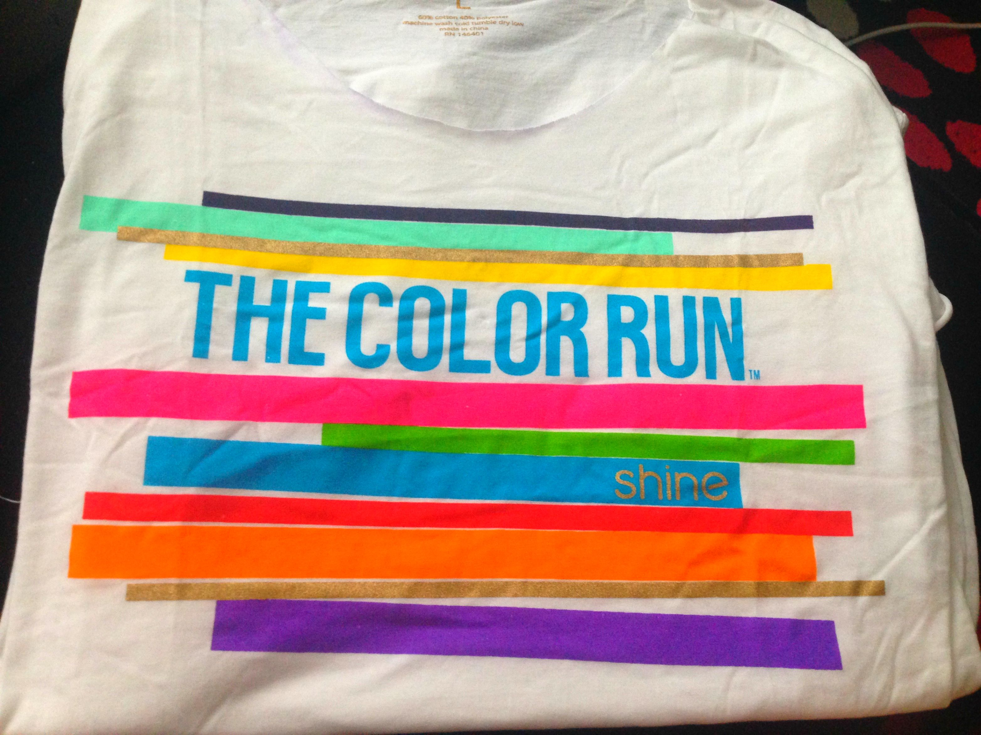 how to keep colour on colour run shirt