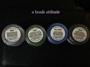 Concrete Minerals Pro Matte Eyeshadows, ravage, thrash, bulletproof, bruise