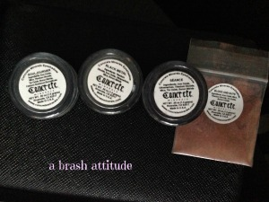 Concrete Minerals Mineral Eyeshadows, souljourner, black metal, seance, blood & guts