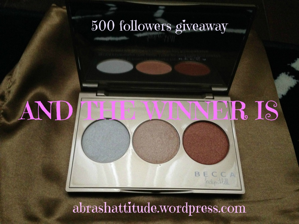 We have a winner! (500 Followers Giveaway)