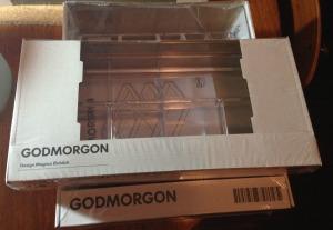 IKEA GODMORGEN acrylic storage boxes