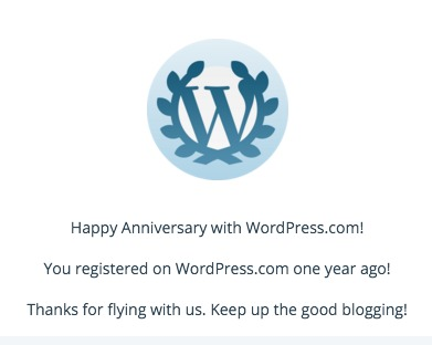 1 Year Blogiversary - a brash attitude