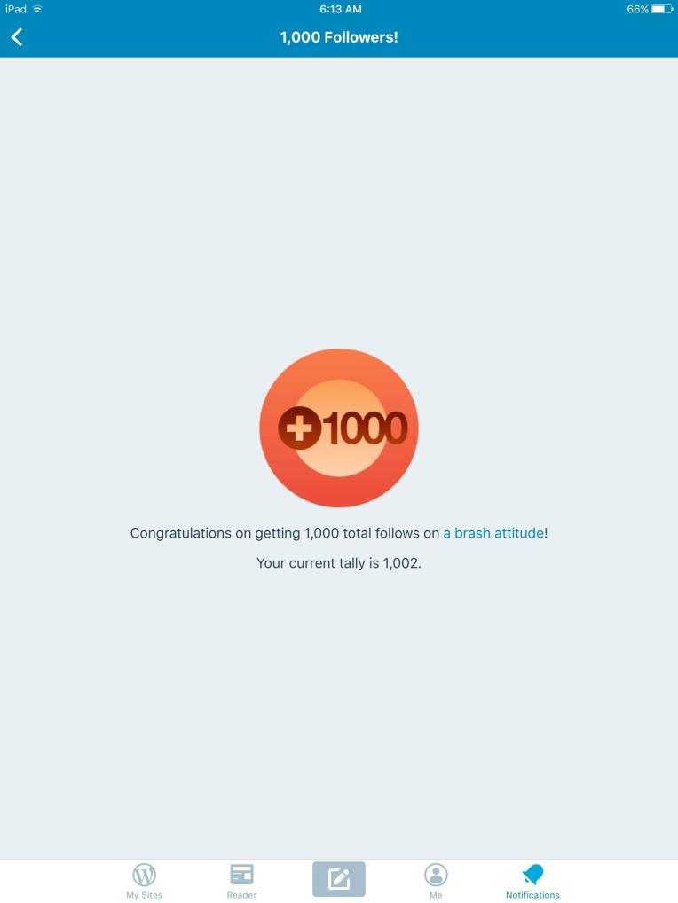 Blog Milestone 1000!