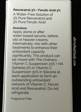 The Ordinary Reversatrol 3% + Ferulic Acid 3%