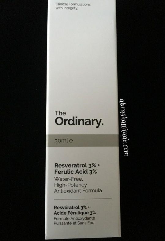 The Ordinary Resveratrol 3 Ferulic Acid 3 Review A Brash Attitude
