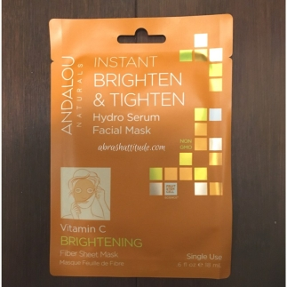 Andalou Naturals Brighten & Tighten Hydro Serum Facial Mask