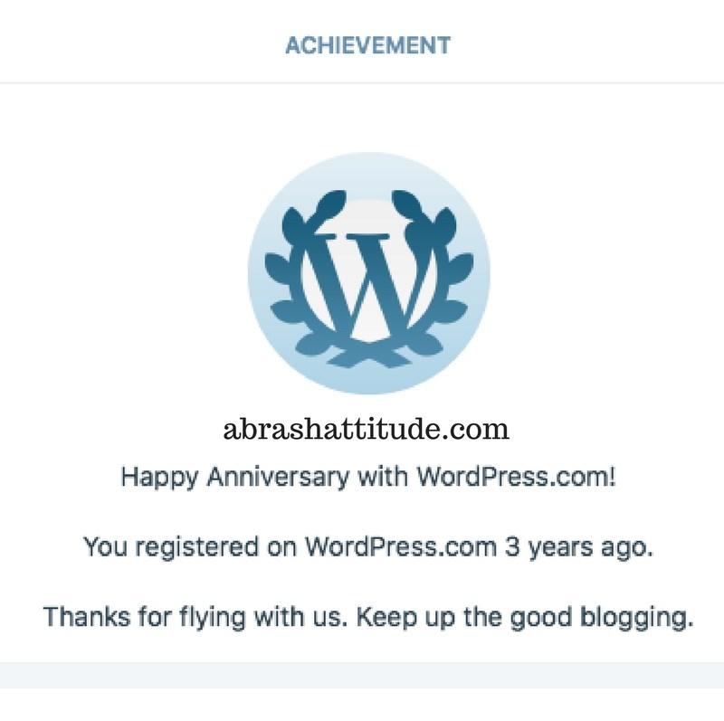 3rd Blogiversary for abrashattitude.com!