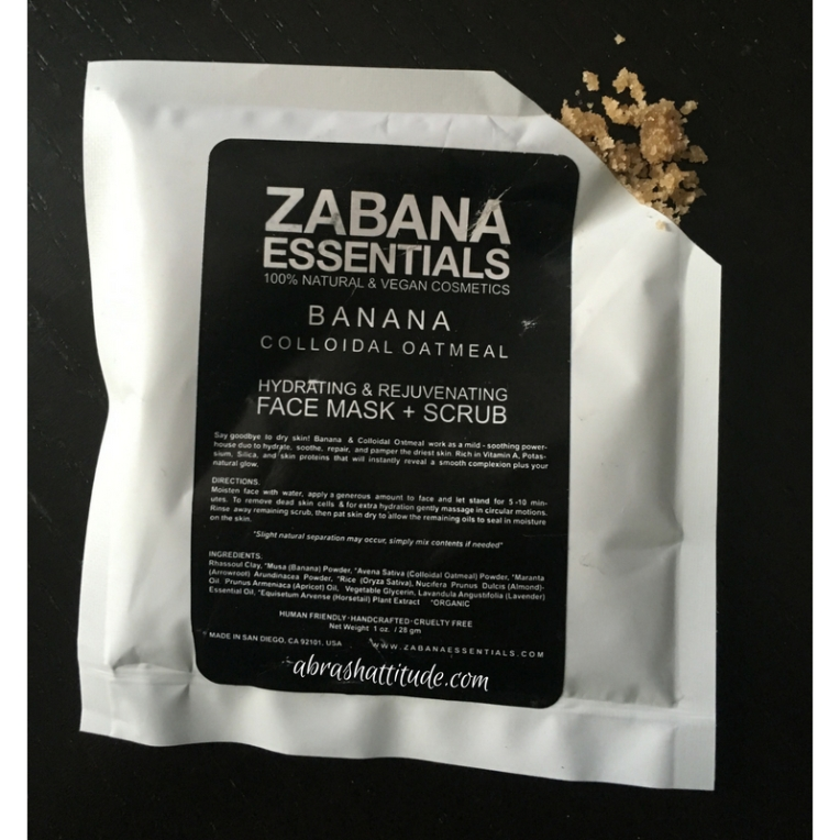 Zabana Essentials Banana Colloidal Oatmeal Hydrating & Rejuvenating Face Mask + Scrub