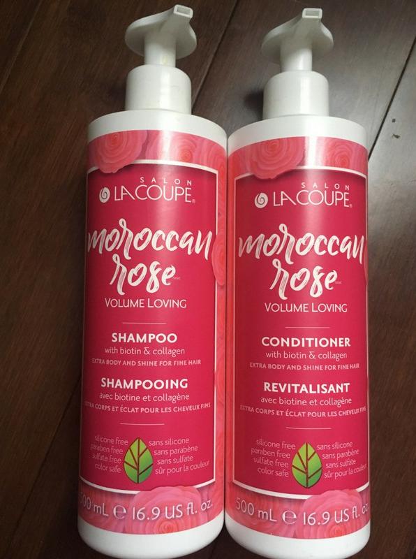 LaCoupe Moroccan Rose Volume Loving Shampoo & Conditioner