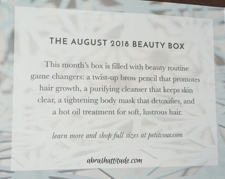 Petit Vour Unboxing August 2018