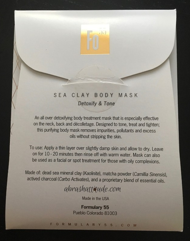 Formulary 55 Sea Clay Body Mask