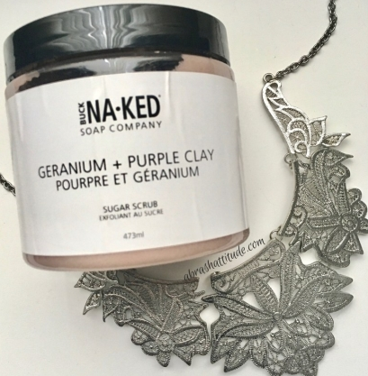 Buck Naked Soap Company Geranium + Purple Clay Sugar Scrub