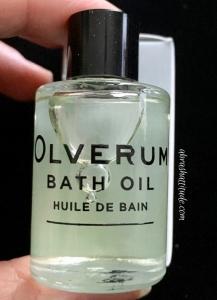 Petit Vour Sept 2018 - Olverum Bath Oil