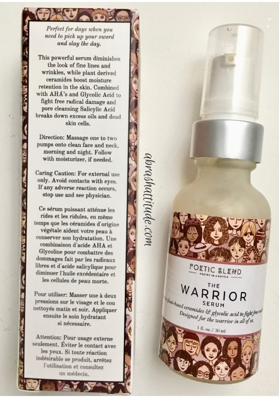 Poetic Blend The Warrior Serum
