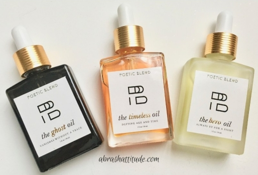 Poetic Blend Face Oil Trio - The Ghost Oil, The Hero Oil, The Timeless Oil