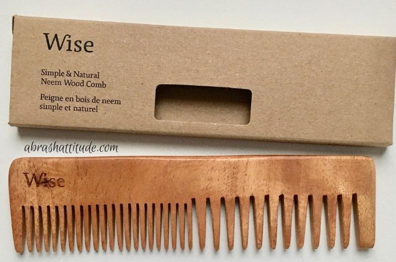 Wise Men's Care Neem Wood Comb
