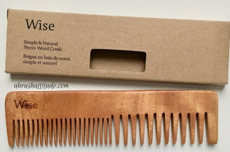 Wise Men's Care Neem Wood Comb