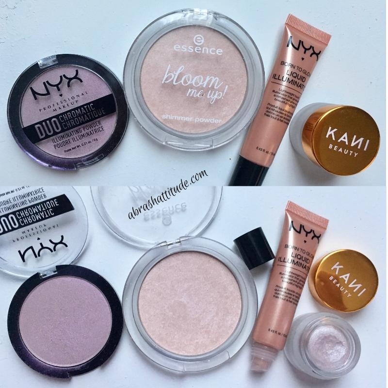 Highlighter Stash - Nyx, Essence and Kani Beauty