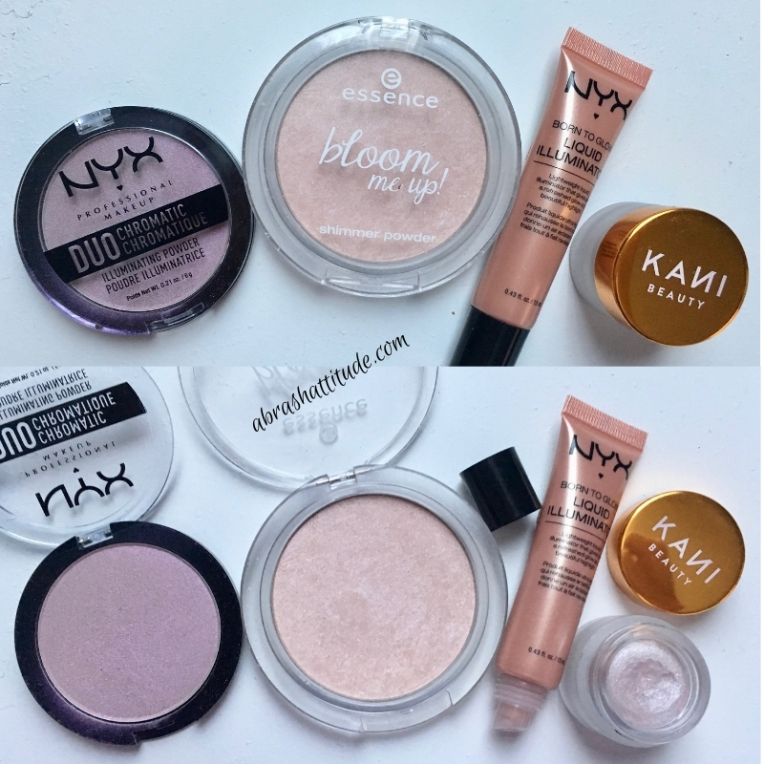 Highlighter Stash - Nyx, Essence and Kani Beauty