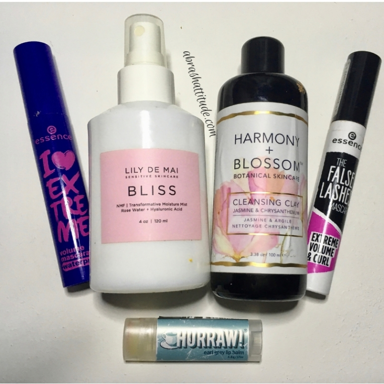 Empties December 2018 - Essence, Lily De Mai, Harmony & Blossom, Hurraw