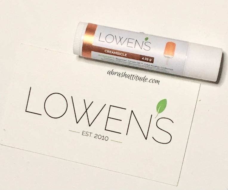 Lowen's Natural Skincare - Creamsicle Lip Balm