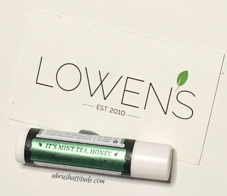 Lowen's Natural Skincare It's Mint Tea, Honey Lip Balm