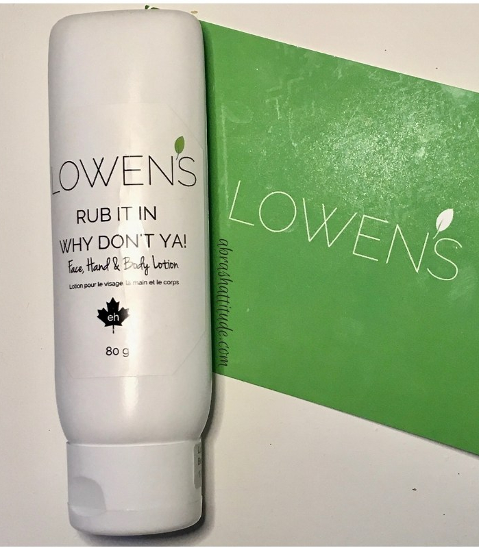 Lowen's Natural Skincare Rub It In Why Don't Ya!