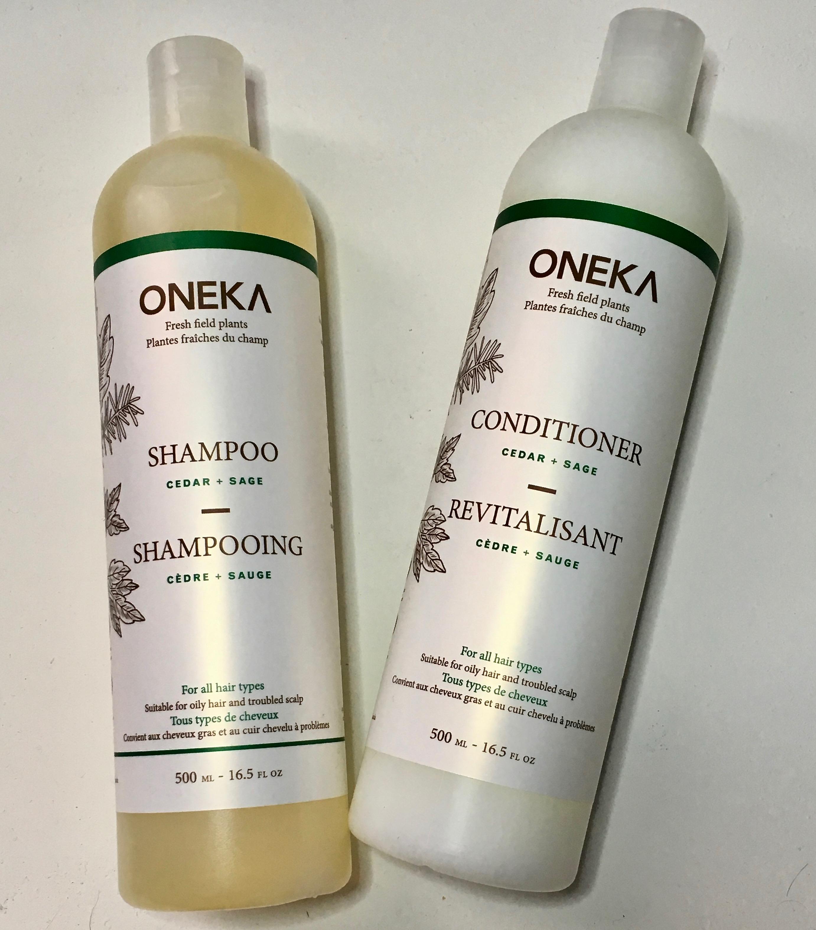 Oneka Cedar & Sage Shampoo & Conditioner