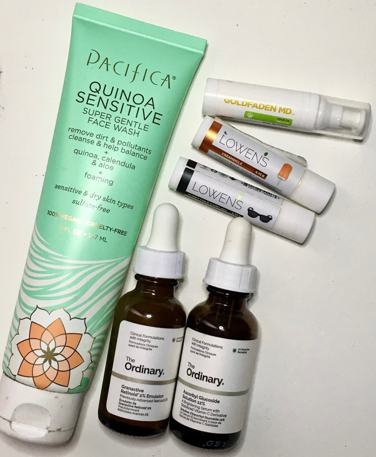 Empties April 2019 - Pacifica, Lowen's, The Ordinary