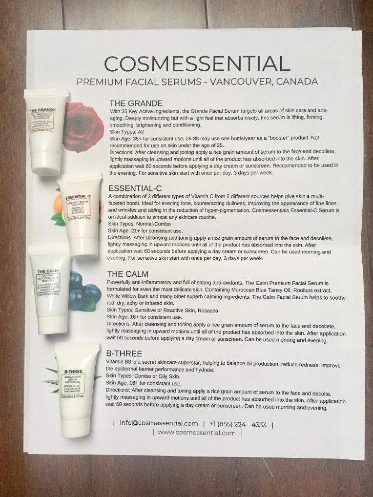 Cosmessential Premium Facial Serums