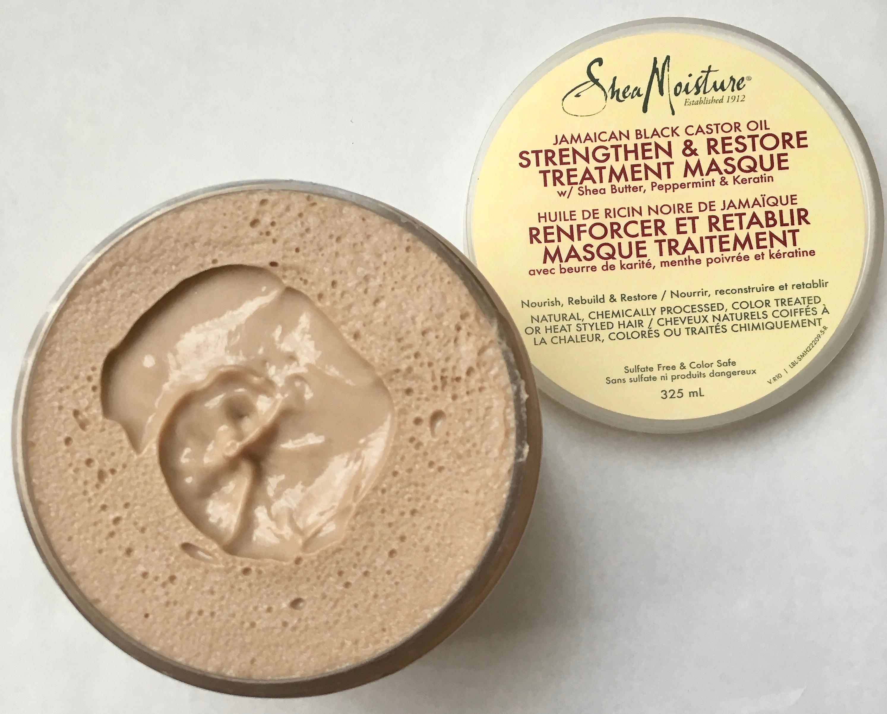 Shea Moisture Jamaican Black Castor Oil Strengthen + Restore Treatment Masque