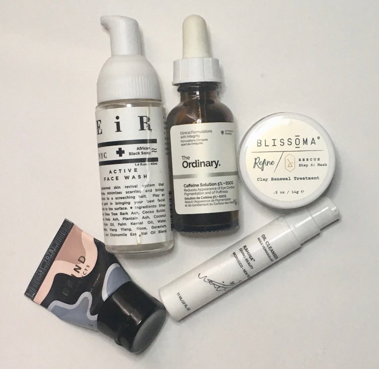 Empties July 2019 - Skincare - EiR NYC, The Ordinary, Blissona, BKind, Kahina Giving Beauty