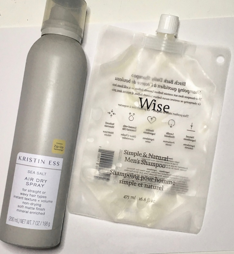 Empties August 2019 - Hair Care - Kristin Ess, Wise Men's Care