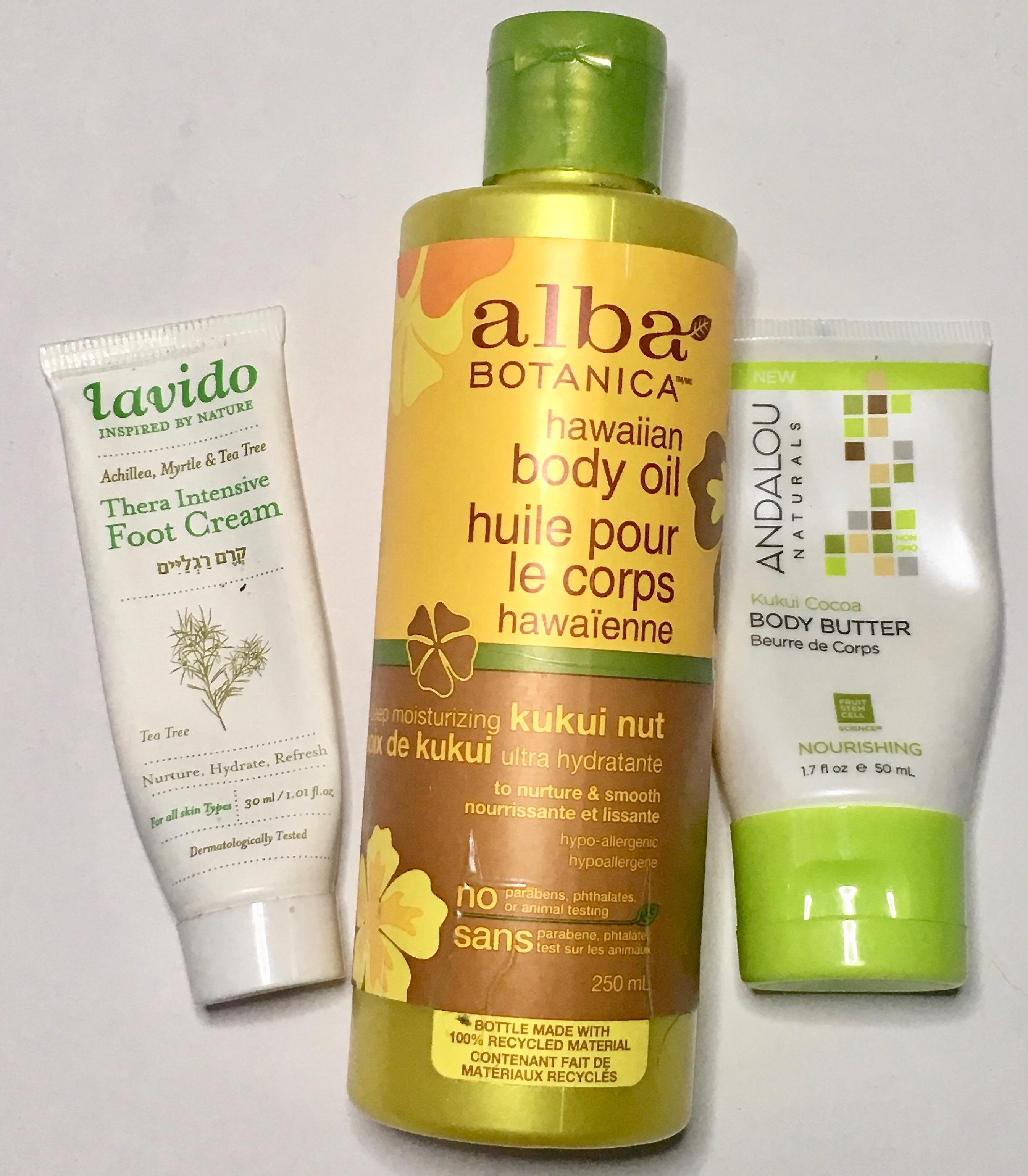 August 2019 Empties - Bath & Body - Lavido, Alba Botanica, Andalou Naturals