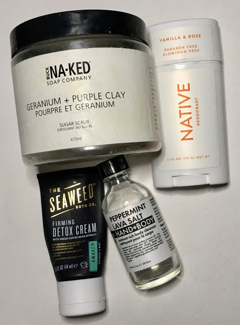 Empties Oct 2019 - Buck Naked Soap Company, Native Deodorant, The Seaweed Bath Co., Moon Rivers Naturals