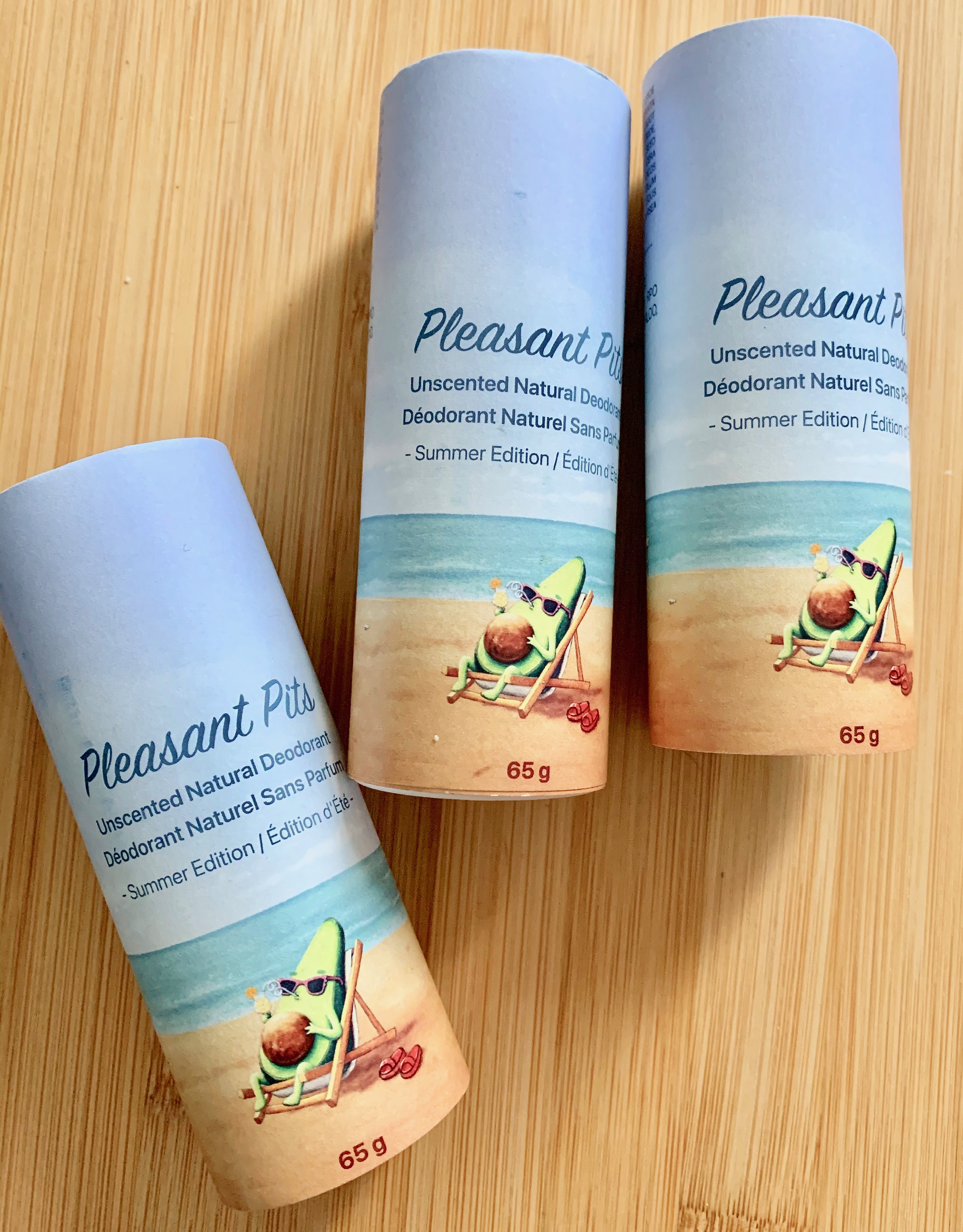 Pleasant Pits Unscented Natural Deodorant